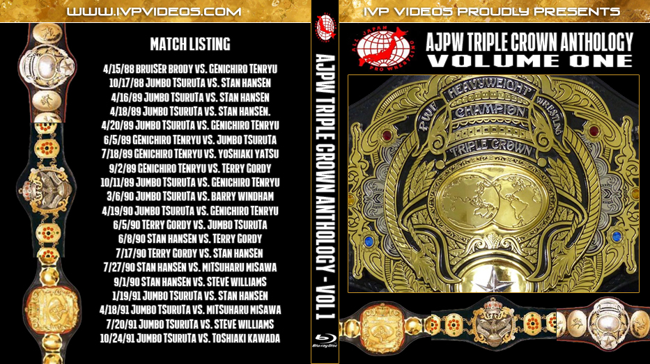 History of AJPW Triple Crown Title V.1 (Blu-Ray with Cover Art)