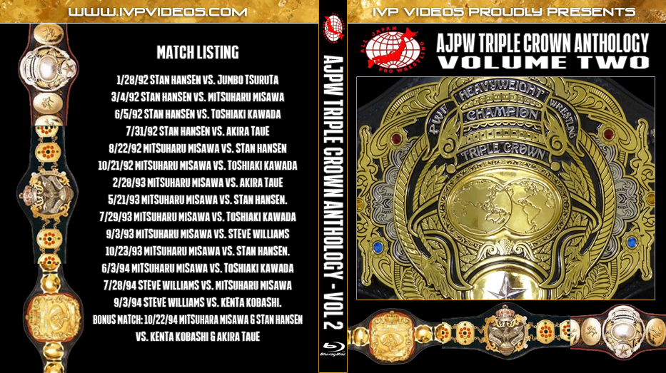 History of AJPW Triple Crown Title V.2 (Blu-Ray with Cover Art)