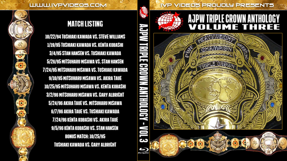 History of AJPW Triple Crown Title V.3 (Blu-Ray with Cover Art)