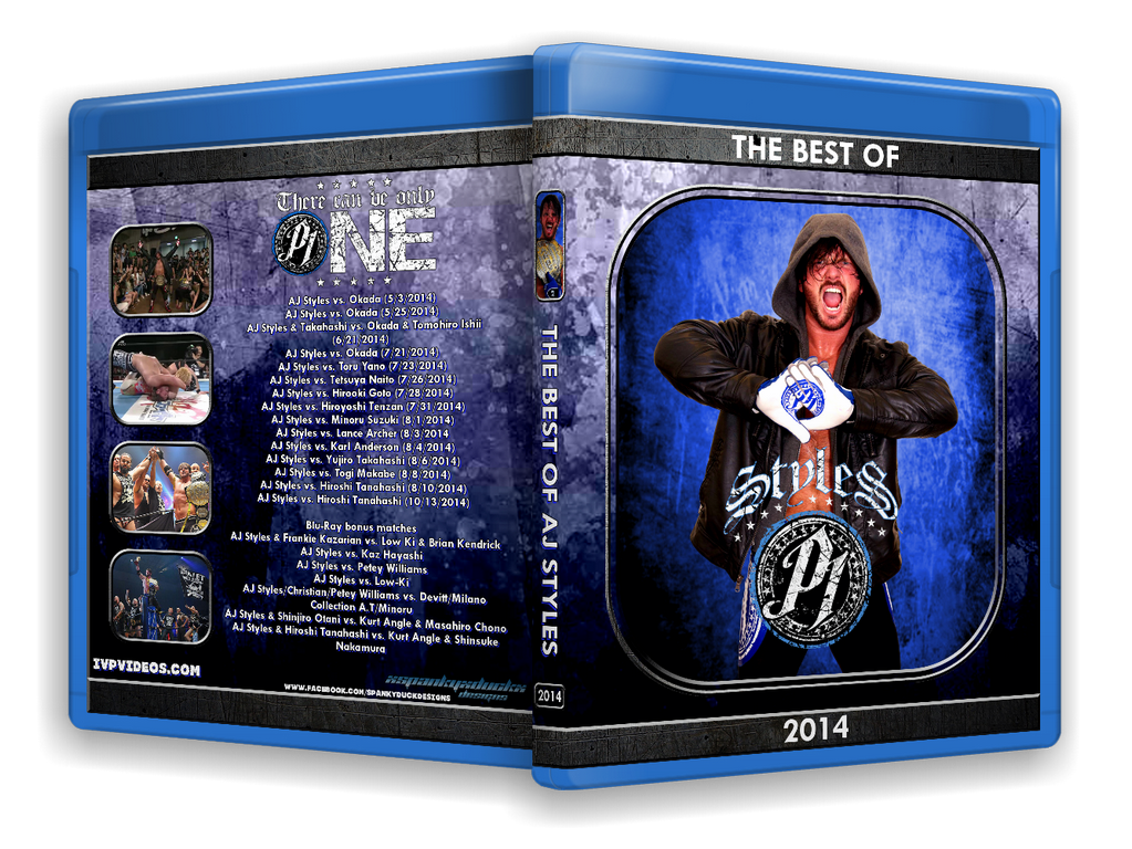 Best of AJ Styles in 2014 (Blu-Ray with Cover Art)