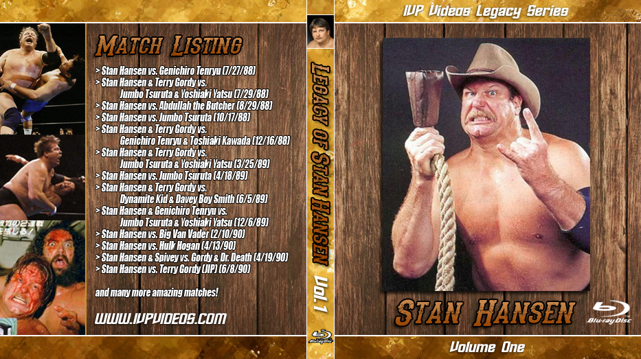 Best of Stan Hansen V.1 (Blu-Ray with Cover Art)