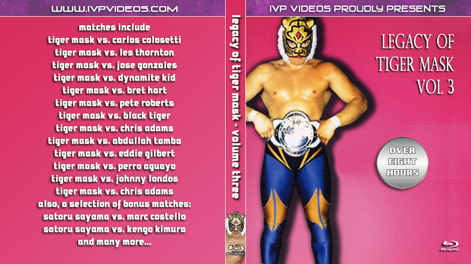 Legacy of Tiger Mask V.3 (Blu-Ray with Cover Art)