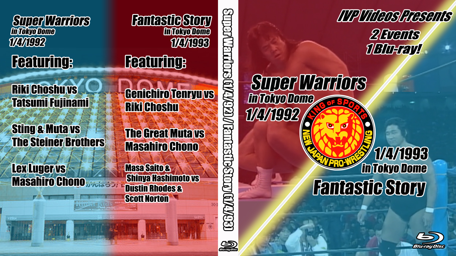 NJPW Tokyo Dome 1992 & 1993 (Blu-Ray with Cover Art)