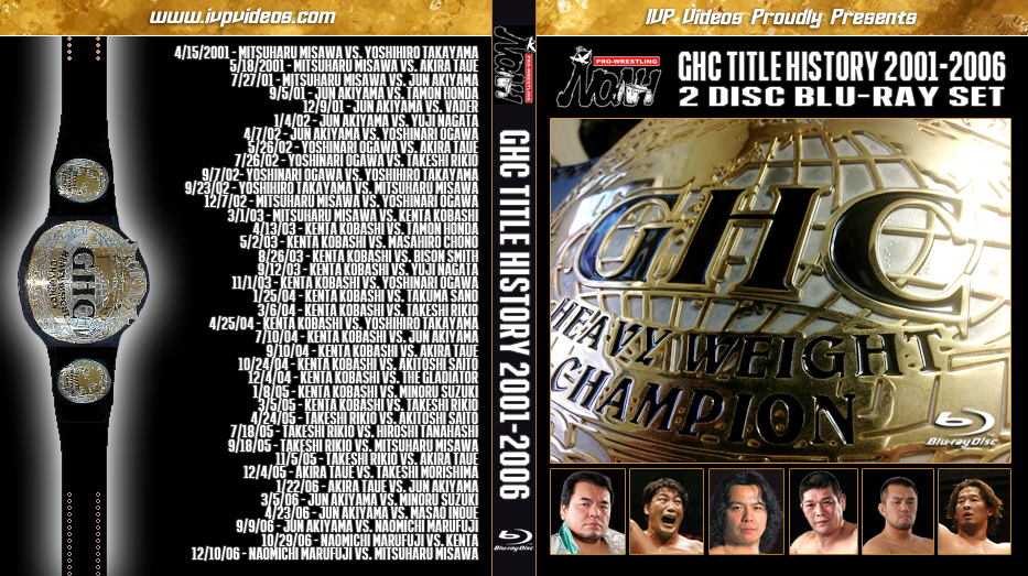 NOAH GHC Title History (2 Blu-Ray with Cover Art)